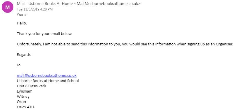 Usborne Books Customer Service Email