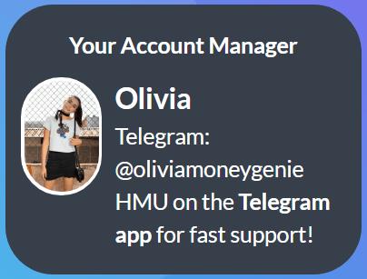 MoneyGenie.co Account Manager Olivia