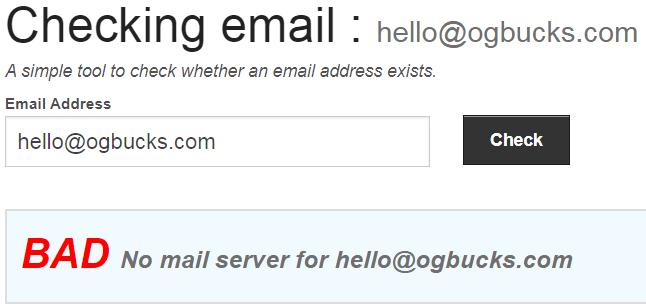 OGBucks Fake Email Address