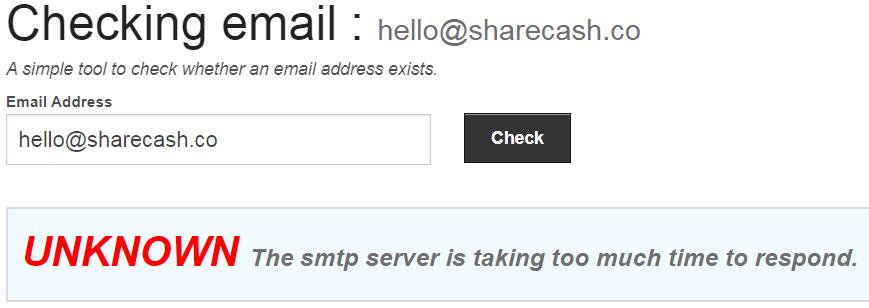 ShareCash.co Fake Email Address
