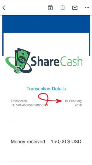 ShareCash.co Fake Payment Proof 1