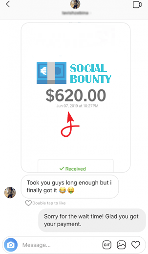 SocialBounty.co Fake Payment Proof 2