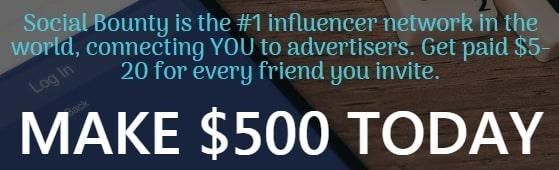 SocialBounty.co Make $500 Today
