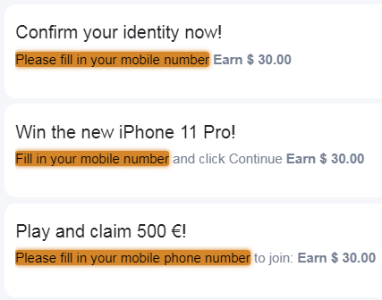 SocialBounty.co Tasks That Require Mobile Phone Number