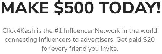 Click4Kash.com Make $500 Today