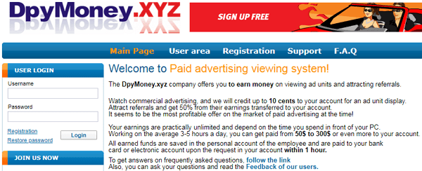 DpyMoney.xyz Scam