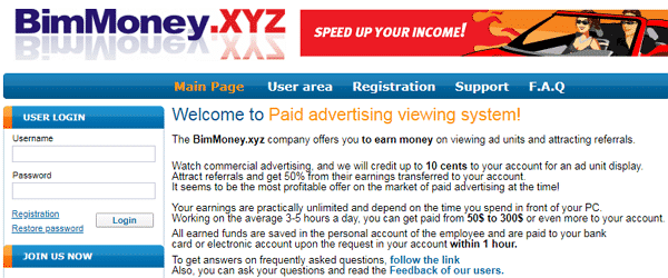BimMoney.xyz Identical Scam
