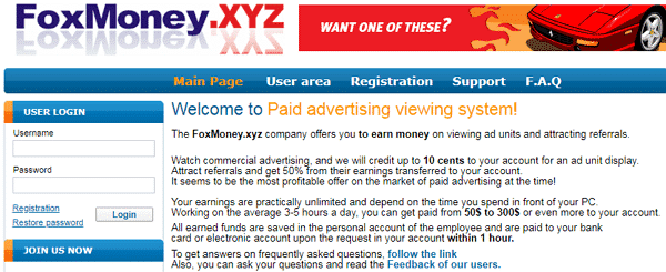 FoxMoney.xyz Identical Scam