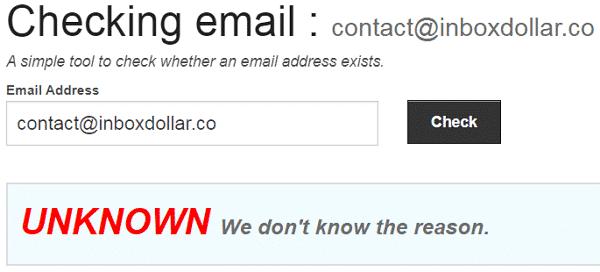 InboxDollar.co Fake Email Address