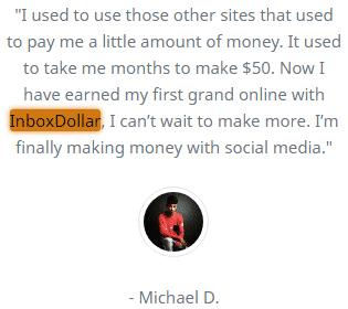 InboxDollar.co Fake Testimonial 2