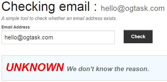 OGTask.com Fake Email Address