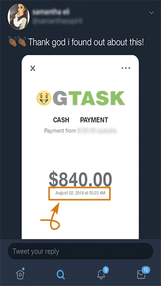 OGTask.com Fake Payment Proof 2