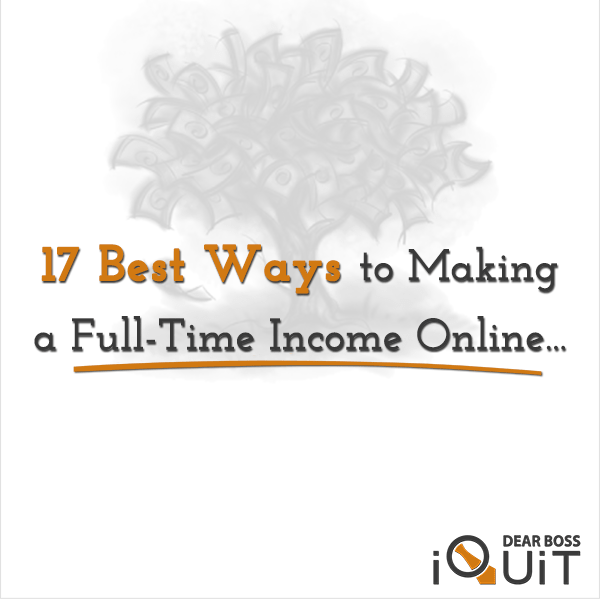 The Best Ways to Make a Full-Time Income Online From Home Featured Image