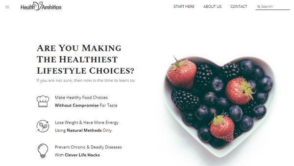 Health Ambition Website