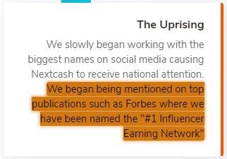NextCash.co Unrealistic Claim 1