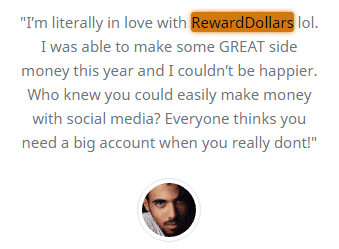 RewardDollars.co Fake Testimonial 1