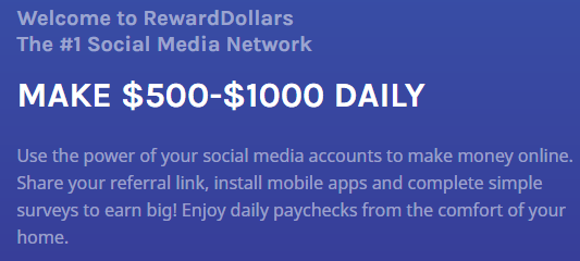 RewardDollars.co Make $500-$1000 Daily