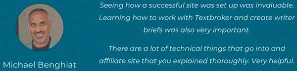 The Authority Site System Testimonial 1