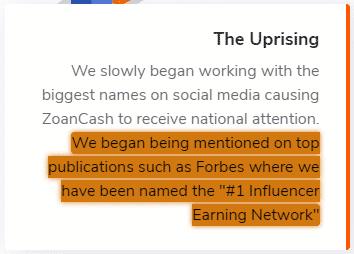 ZoanCash.com Fake Claim 1