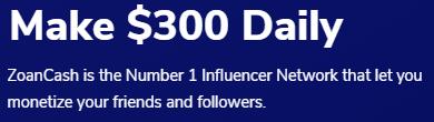 ZoanCash.com Make $300 Daily