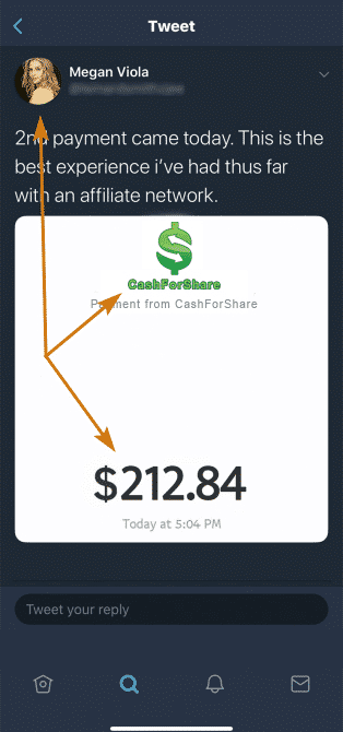 CashForShare.co Fake Payment Proof