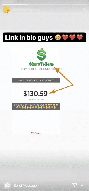 ShareToEarn.co Fake Payment Proof 1