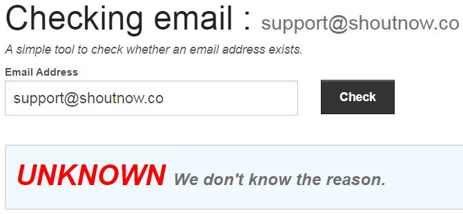 ShoutNow.co Fake Email Address