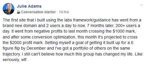 The Affiliate Lab Success Story 5