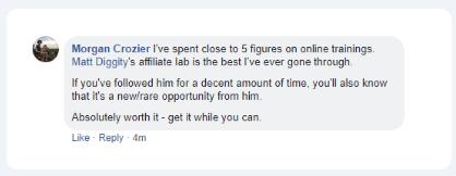 The Affiliate Lab Testimonial 3