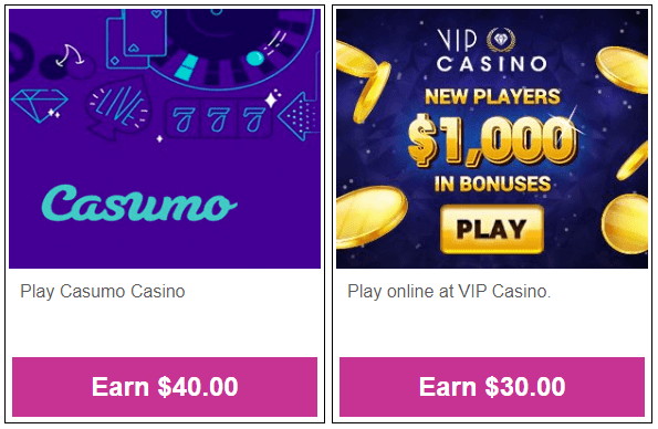 Daily Rewards Casino Cash Offers