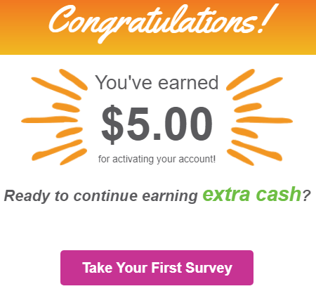 Daily Rewards Earned $5 Bonus For Activating Account