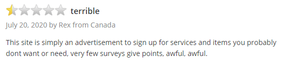 Daily Rewards Trustpilot Negative Review 3