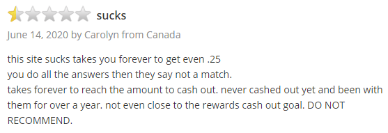 Daily Rewards Trustpilot Negative Review 4