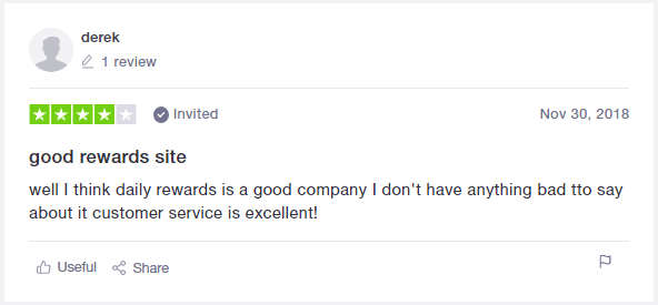 Daily Rewards Trustpilot Testimonial 3