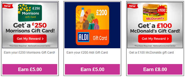 Inbox Pounds Gift Card Rewards