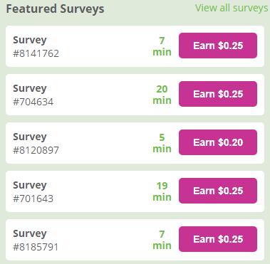 InboxDollars Billy Button Available Surveys