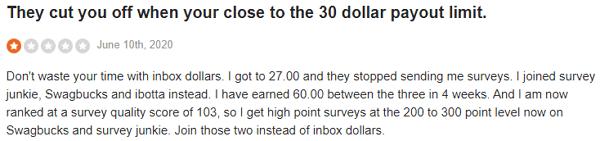 InboxDollars Complaint 3