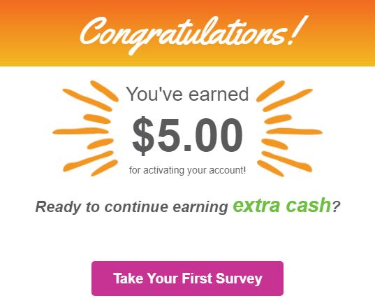 InboxDollars Get $5 For Activating Your Account