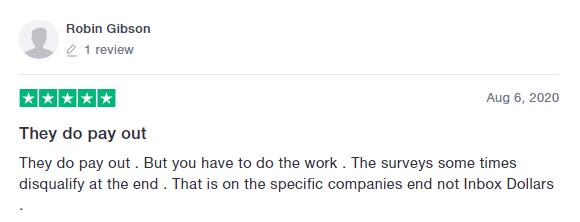 InboxDollars Trustpilot Review 3