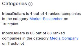 InboxDollars Trustpilot Top Ranked