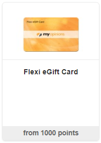 MyOpinions Flexi eGift Card