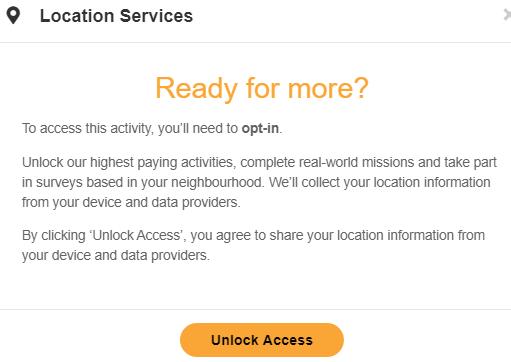 MyOpinions Location Services
