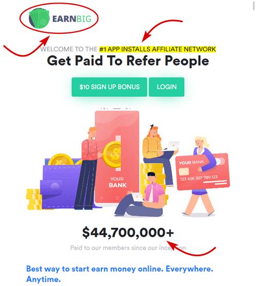 EarnBig.co Homepage