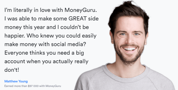 MoneyGuru.co Homepage Testimonial