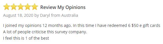 MyOpinions SurveyPolice Testimonial 1