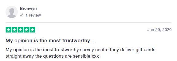 MyOpinions Trustpilot Review 1