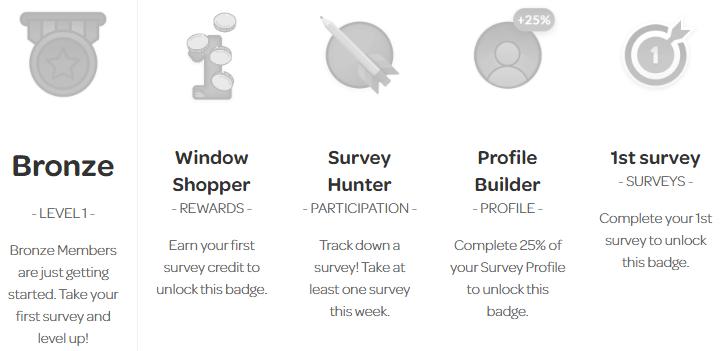 OpinionWorld Bronze Badge Requirements