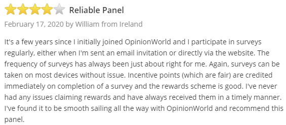 OpinionWorld Positive SurveyPolice Testimonial 1