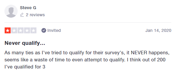 Opinions 4 Good Survey Disqualifications Testimonial