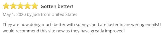 Opinions 4 Good SurveyPolice Positive Testimonial 1
